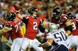 Sep 29, 2013; Atlanta, GA, USA; Atlanta Falcons quarterback Matt Ryan (2) throws a pass in the first half against the New England Patriots at the Georgia Dome. Mandatory Credit: Daniel Shirey-USA TODAY Sports